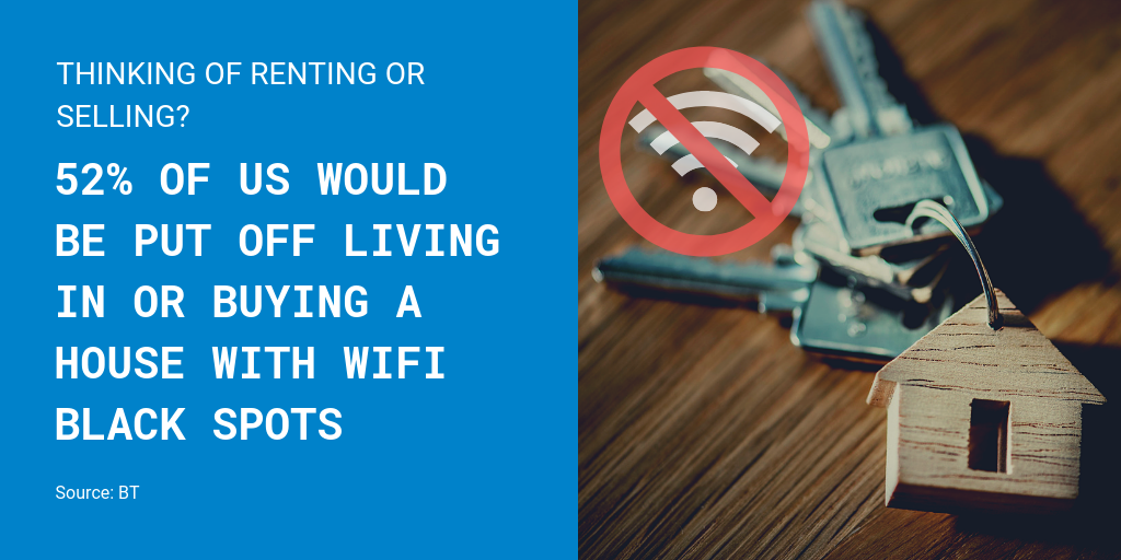 WiFi improvements prevent black spots damaging property value
