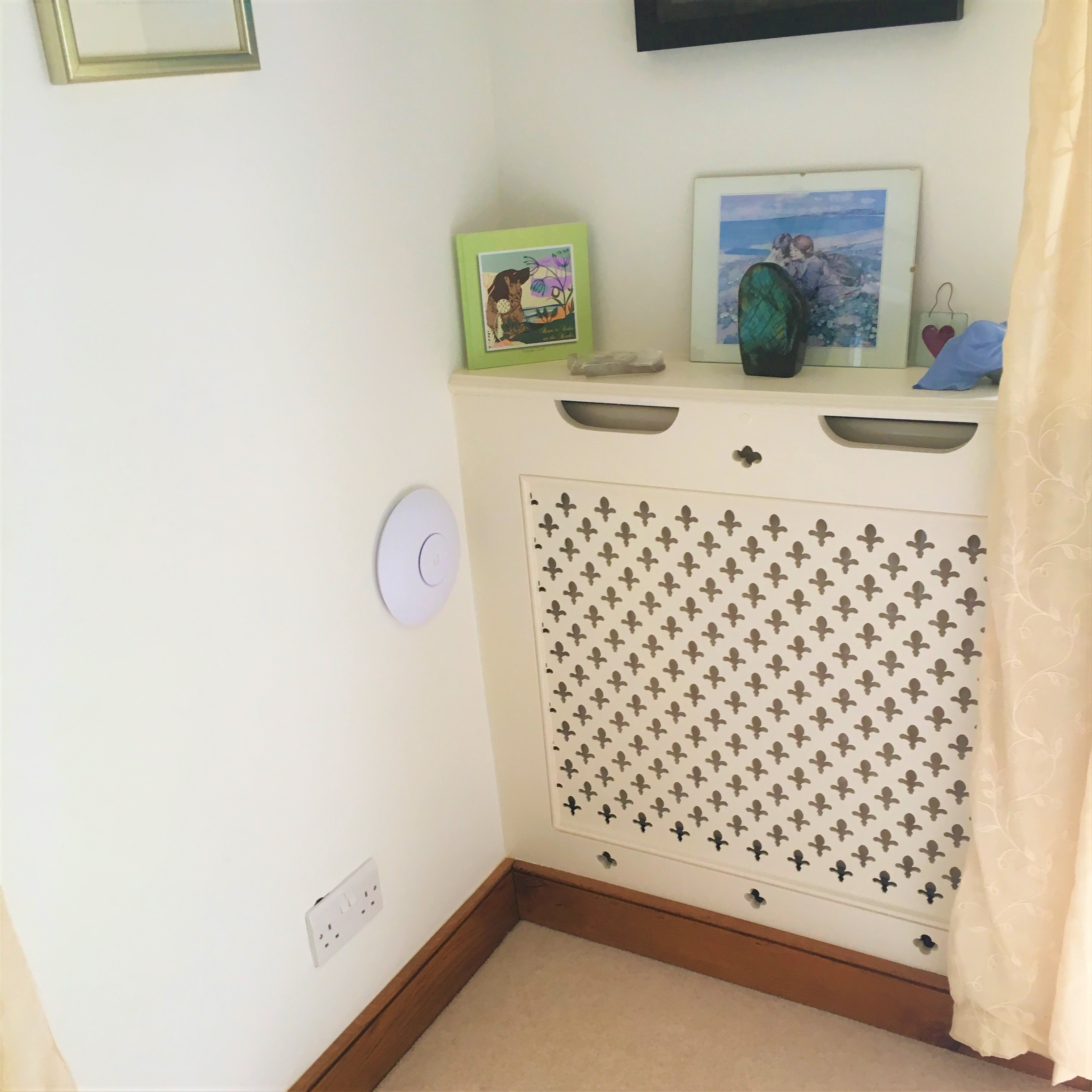 WiFi access point installed in a home setting